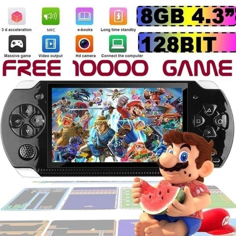 Chơi Game Cầm Tay Máy Chơi Game Cầm Tay 32Bit Với Màn Hình HD 4.3 Inch, Suport Tệp Trò Chơi Sao Chép PS1 GBA Với RAM 8GB