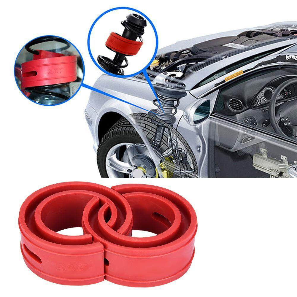 【Flash Sale!!!】2pc Red Car Shock Absorber Buffer Spring Bumper Cushion Type  (D)