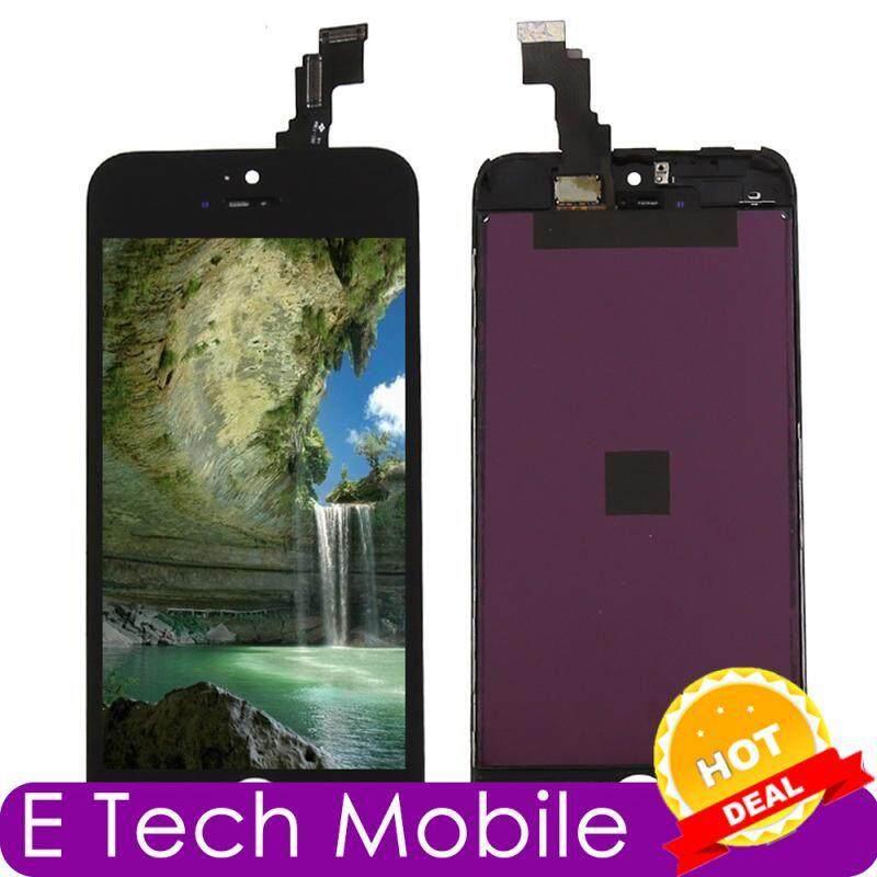 E Tech Mobile Perakitan untuk iPhone 5C Hitam Sentuh Layar Digitalisasi Monitor LCD Perbaikan