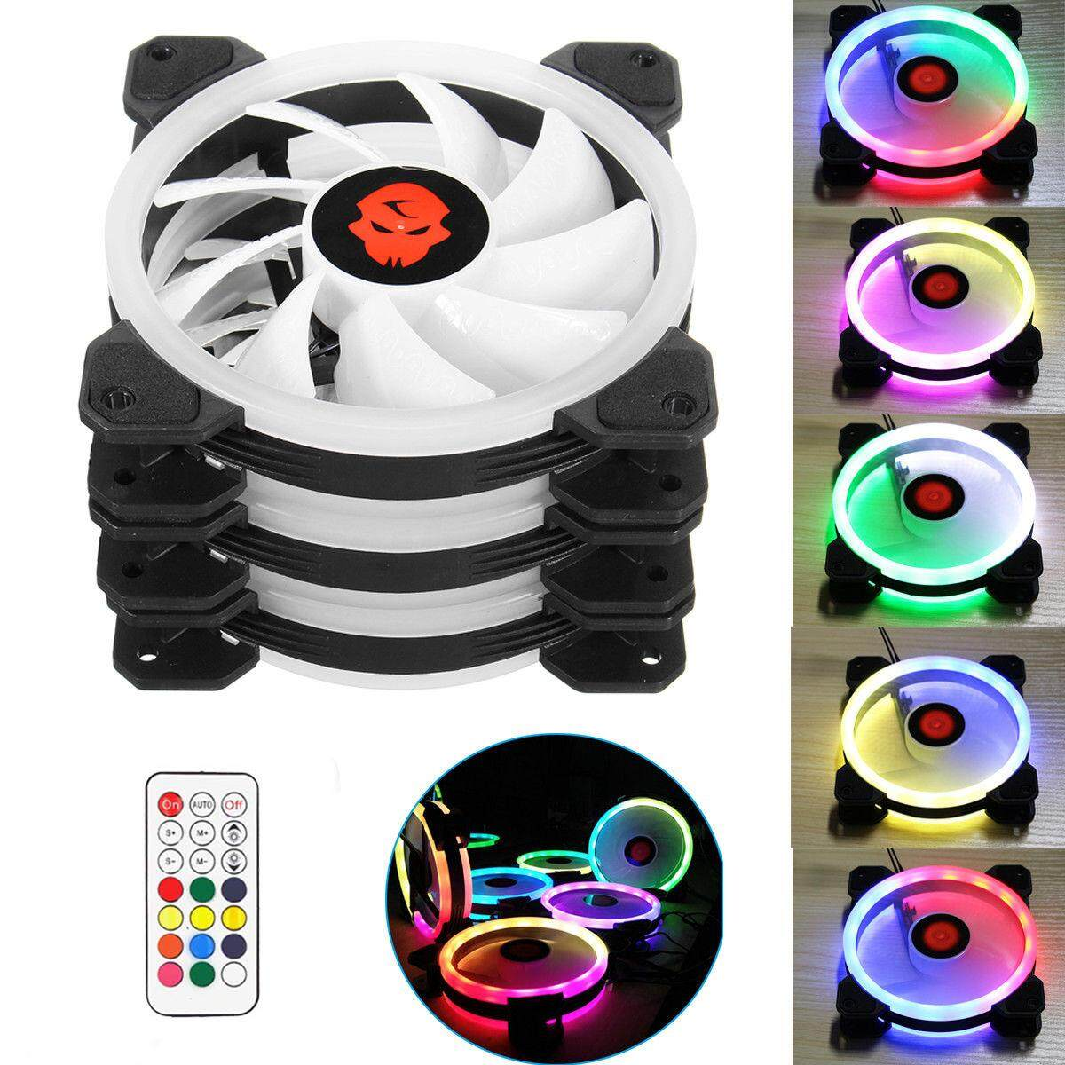 3 Fans Computer Case Fan 120mm Rgb Colorful Pc Cpu Cooling Fan Cooler Silent High Airflow With Rgb Controller By Chaoshihui.