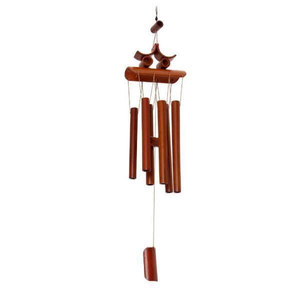Blesiya Handmade Bamboo Tubes Oriental Hanging Bell Wind Chime Feng Shui Ornament