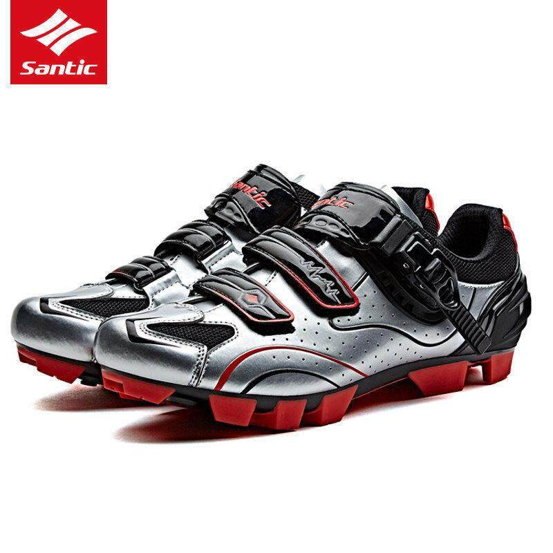 edfd5685ef2 Santic Men MTB Cycling Shoes Auto-lock Bicycle Shoes Mountain Bike For  Shimano SPD Eggbeater