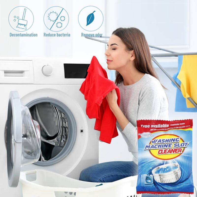 zoahu 5pcs Home Kitchen Washing Machine Tank Cleaning Agent Bags Machine Cleaner Supplies Effective decontamination