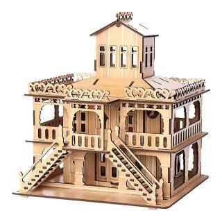 Đồ Chơi Xếp Hình Bằng Gỗ 3D Hộp Nhạc Tự Làm Kiến Trúc Ghép Hình, House Villa Giấy Nhà Giáo Dục Cho Bé Trai Bé Gái Câu Đố Cho Trẻ Em thumbnail