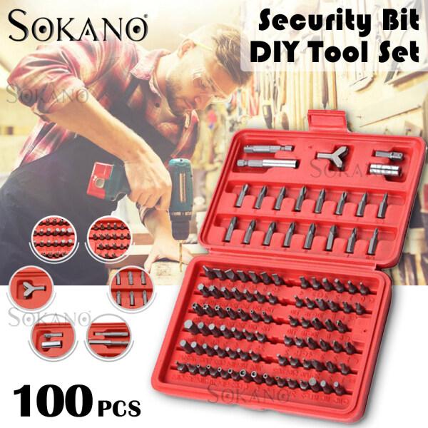 SOKANO HT09 100pcs Security Bit Tool Set Torx Hex Drill Star Spanner Screw Driver Hand Tools DIY Must Have