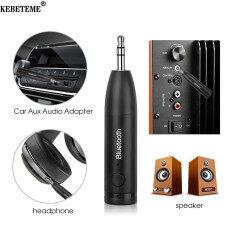 KEBETEME Bluetooth 5.0 Thiết Bị Thu Nhận Âm Thanh Xe Bluetooth AUX 3.5Mm Bộ Thu Tín Hiệu Âm Thanh Gọi Điện Không Cần Dùng Tay Bộ Phát Thanh Dùng Cho Ô Tô Bộ Chuyển Đổi Tự Động