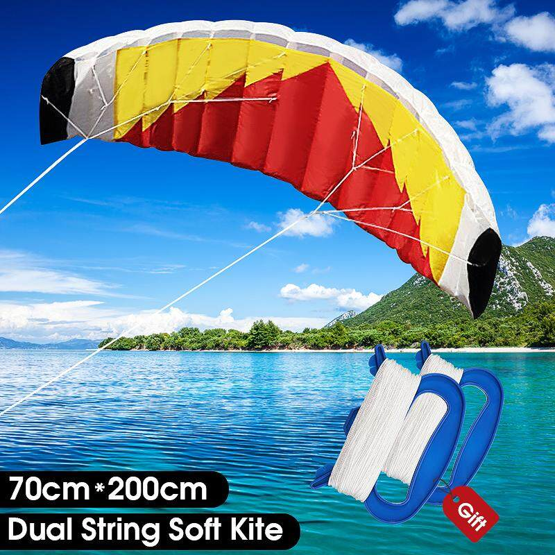【free Shipping + Flash Deal 】dual String Soft Kite 70x200cm Nylon Fabric Gentle Breeze Outdoor Parafoil Kite New By Freebang.