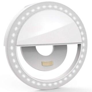 Selfie LED Ring Flash 3 Level Brightness Small Ring Light Mobile phone fill light Holder Makeup Selfie Light thumbnail