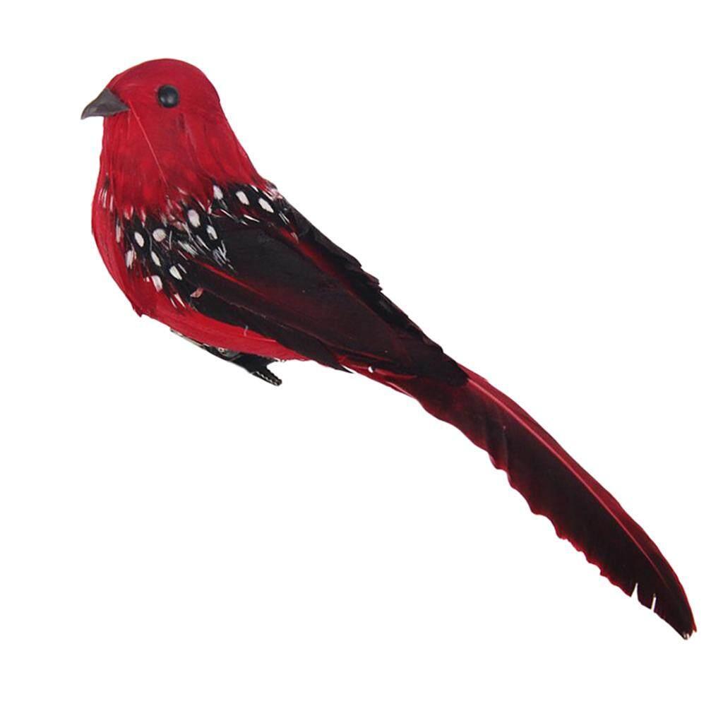 Predolo 6 Màu Sắc Lông Vũ Nhân Tạo Bọt Chim Có Kẹp Vườn Cây Trang Trí