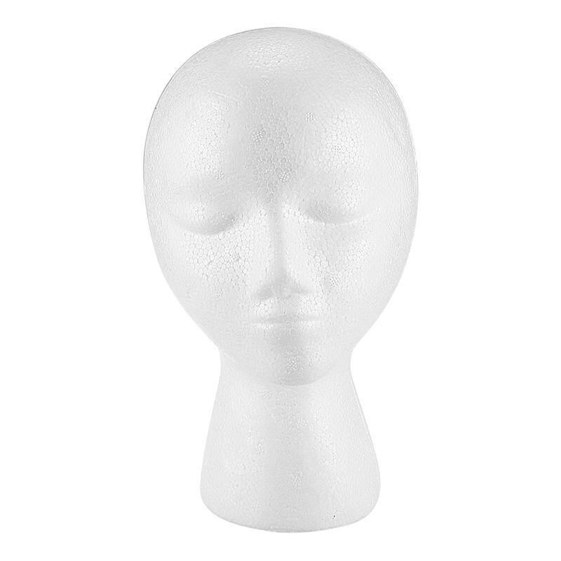 Styrofoam Foam Mannequin Wig Head Display Hat Cap Wig Holder White Foam Head nhập khẩu