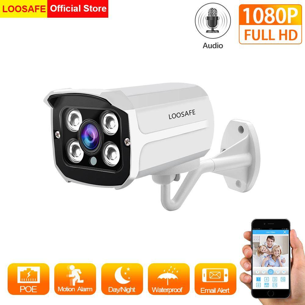 LOOSAFE H 265X HD 1080P POE CCTV Security IP Camera 2 0-Megapixel Outdoor  Audio & Video Night Vision Onvif Surveillance Camera