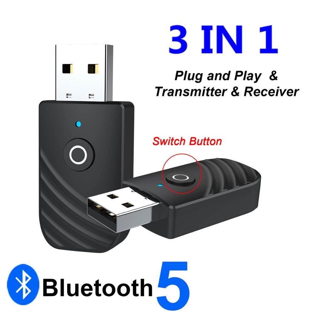 Cắm Và Phát Bộ Phát Và Thu Bluetooth 5.0 USB 3 Trong 1, Đầu Chuyển Đổi Giắc Cắm 3.5Mm Thiết Bị Âm Thanh Loa PC Cho Xe Hơi Gia Đình