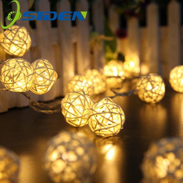 Bảng giá Đèn Cổ Tích Đèn Mây, Bóng Đèn Sepak Takraw Thái Lan Màu Trắng Ấm 5M/16ft 20 Bóng Đèn Đèn LED Dây Đèn Lồng Takraw Vòng Hoa Đèn Ngủ Trang Trí Cho Ngày Lễ Giáng Sinh Năm Mới