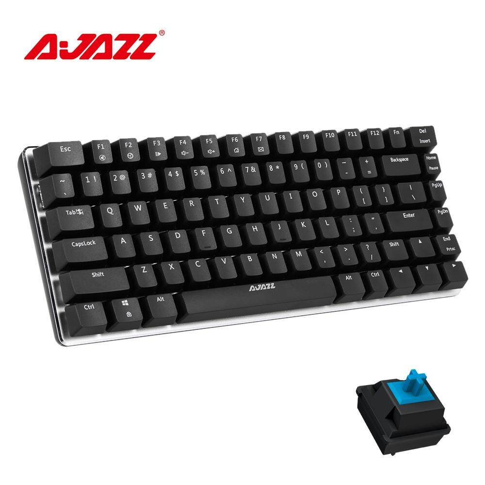 【JM GAMING MALAYSIA】AJAZZ AK33 BLUE / BLACK SWITCH Backlit SINGLE / RGB / NON LED MECHANICAL GAMING KEYBOARD  GOLD USB PLUG CABLE REMOVABLE A-JAZZ Malaysia