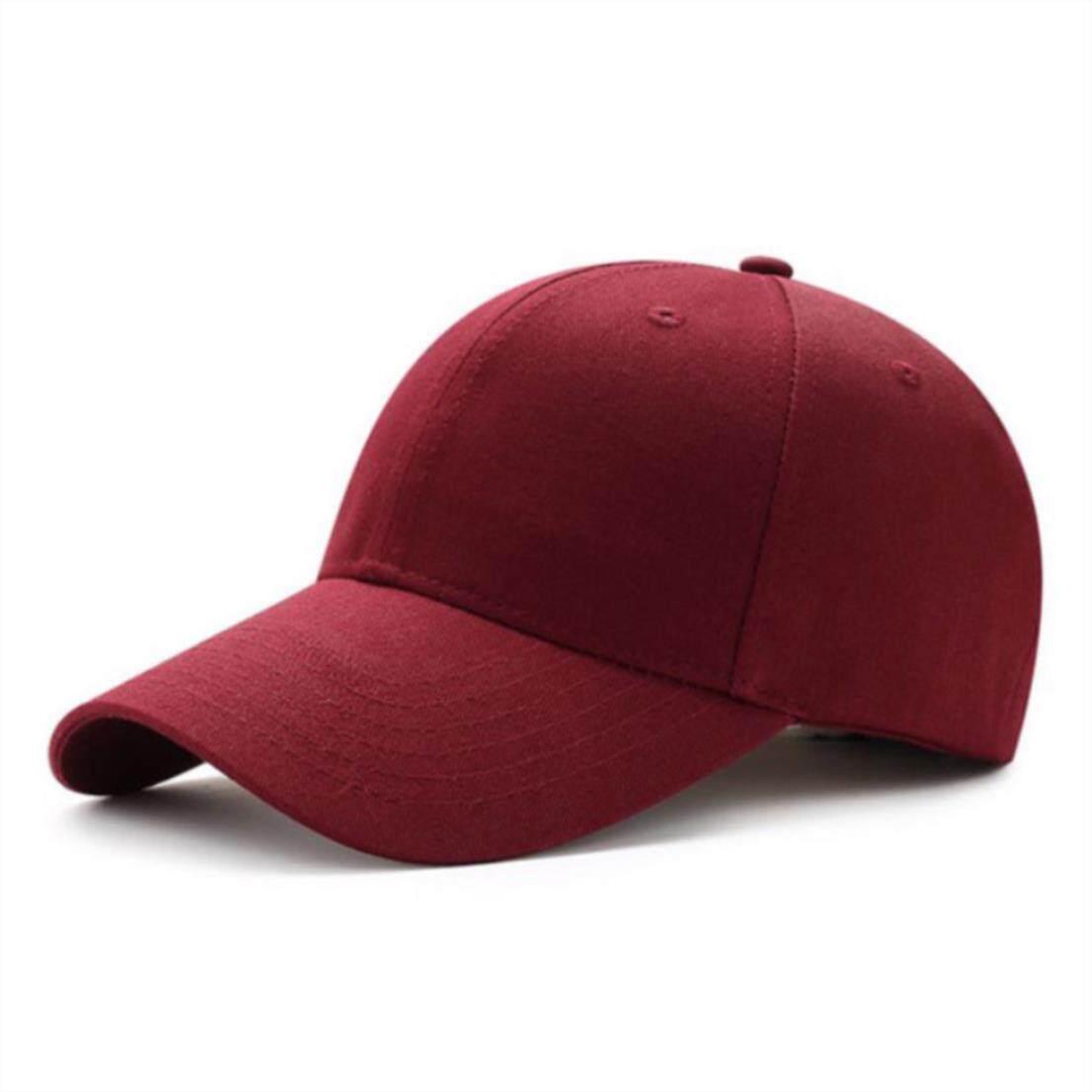 Men Women Plain Curved Sun Visor Baseball Cap Hat Solid Color Fashion Adjustable Caps By Bochang.