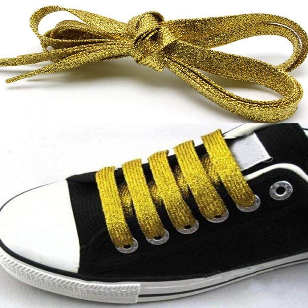 Giá bán 1 * Cá Tính Unisex Thể Thao Flat Sáng Nhiều Màu Sắc Lấp Lánh Lấp Lánh Giày Bootlaces Bootlace Dây Giày Shoestring
