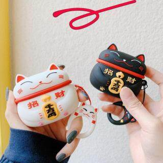 For AirPods 3 Case Cute Japan Lucky Cat Earphone Cases For Apple Airpods pro Earpods Cover Soft Silicone Headphone Cover thumbnail