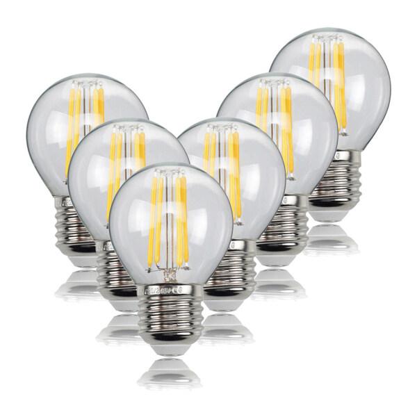 6 Đèn LED Dây Tóc, Bóng Đèn Edison Cổ Điển Bóng Đèn Thủy Tinh Cổ, 4W