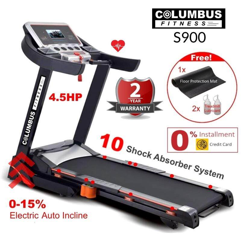 4.5hp Columbus Fitness S900 Professional Treadmill 15 Levels Electric Auto Incline By Ecobee.