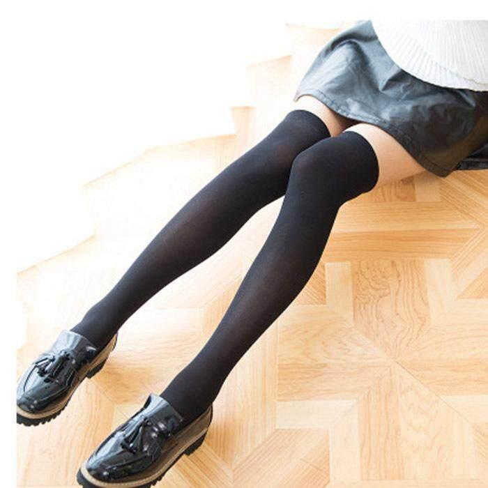 Giá bán Thời Trang Nữ Qua Đầu Gối Vớ Chống Trơn Trượt Màu Đùi Cao Cấp Boot Sock Học Sinh Bé Gái Cổ
