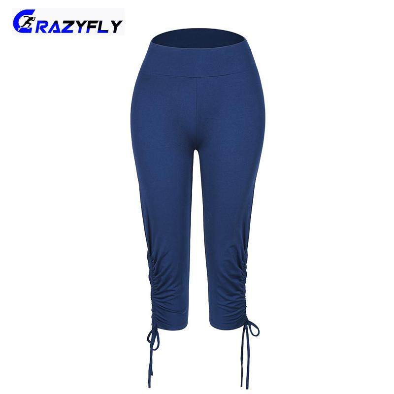 a8152c4d375ca Crazyfly Women Comfortable Yoga Pants 3/4 Length Slim Fit Fast Dry  Breathable Drawstring Pants