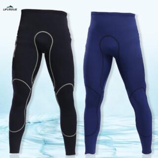 Mens 3Mm Black Neoprene Wetsuit Pants Diving Snorkeling Surfing Swimming Warm Pants Leggings Tightsfull Bodys Size S-XL thumbnail
