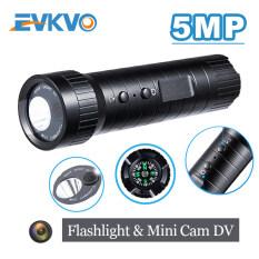 Evkvo-HD 5MP Đèn Pin Ống Kính Ánh Sáng Lên Camera Hành Động Mini Cam Mini Mũ Bảo Hiểm Thể Thao Có Gắn Máy Quay HD Góc Rộng Chuyển Động DV Máy Ảnh Không Thấm Nước Ghi Lặp Lại