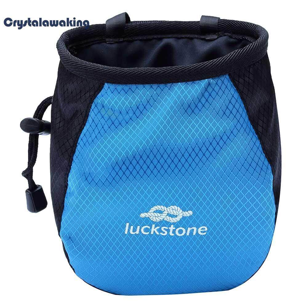 Outdoor Rock Soft Climbing Chalk Bag Waterproof Polyester Magnesium Powder Pouch By Crystalawaking.