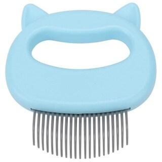 Blu Pet Cat Dog Massage Shell Pettine Grooming Hair Removal Spargimento Spazzola per la Pulizia per Cane Cat