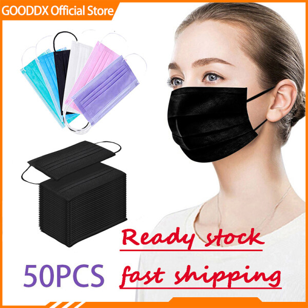【Available】50 3ply Face Masks Suitable Adult Kids Anti-dust Anti-virus Disposable 3ply Masks