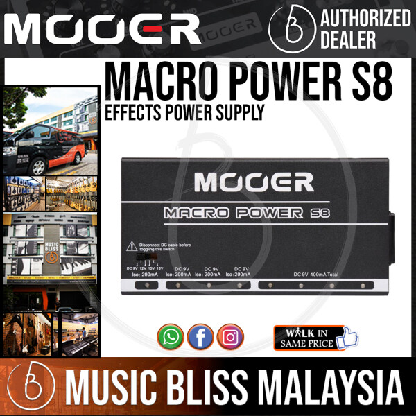 Mooer Macro Power S8 Effects Power Supply Malaysia
