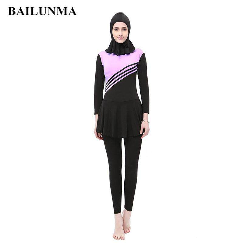 9b10217154 Betrare Muslimah Swimming Suit High Elastic Baju Mandi for Women Muslimah  Long Sleeve Lady Beach Wear