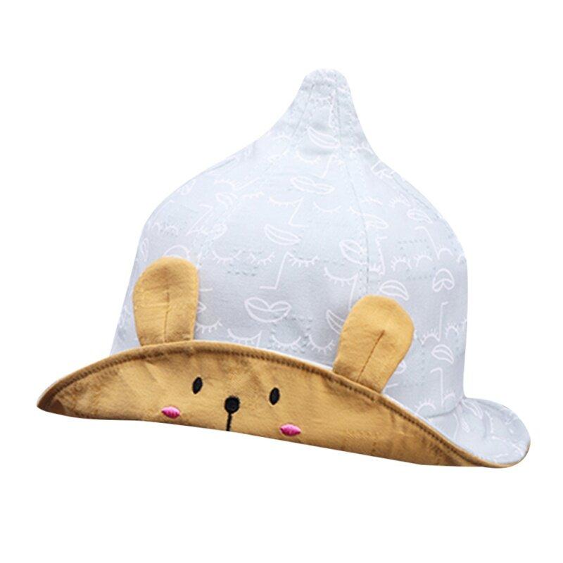 Giá bán Hàn Quốc Mũ Bé Gái Cotton In Hình Người Cá Nón Hoạt Hình Tai Thỏ Con Hat