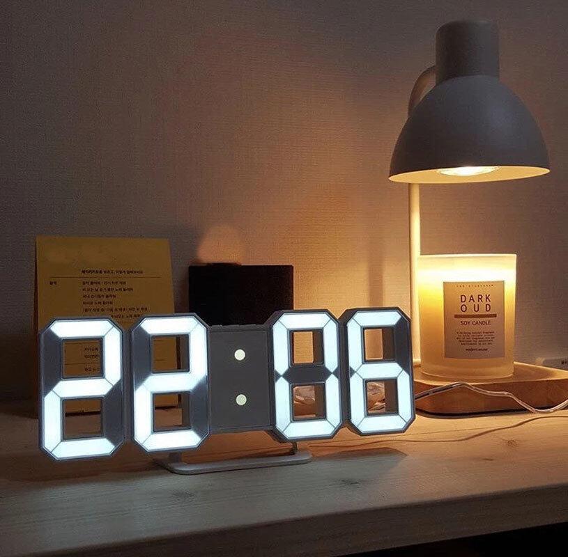 Đồng Hồ Treo Tường Kỹ Thuật Số LED Lớn 3D, Hiển Thị Đèn Ngủ Ngày Giờ Đồng Hồ Để Bàn Đồng Hồ Báo Thức Để Trang Trí Phòng Khách Gia Đình