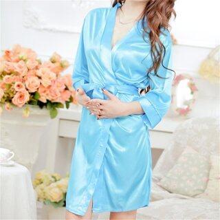 Đồ Lót Ren Lụa Giả Quyến Rũ Cho Nữ, Áo Choàng Ngủ Đồ Lót Váy Ngủ Duyên Dáng thumbnail