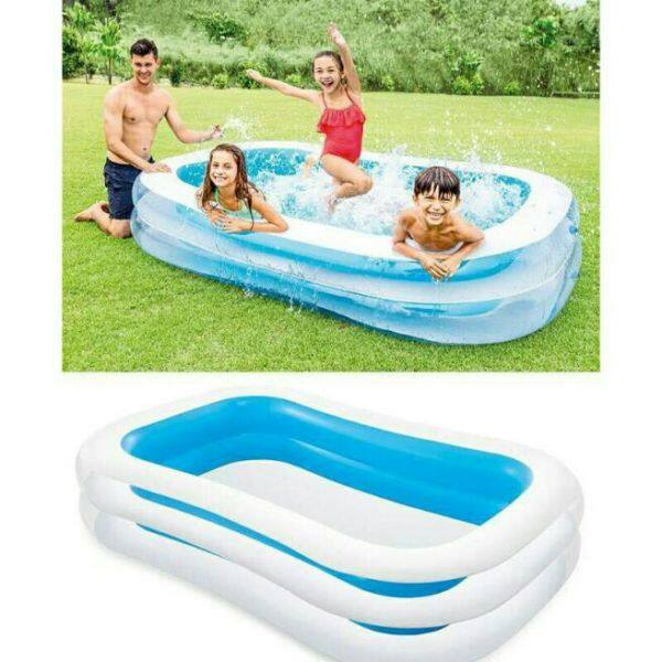 PROMOTION 56483 INTEX 265cm X175cm X 56cm Inflatable Ring Swimming Pool Safe PVC Bath