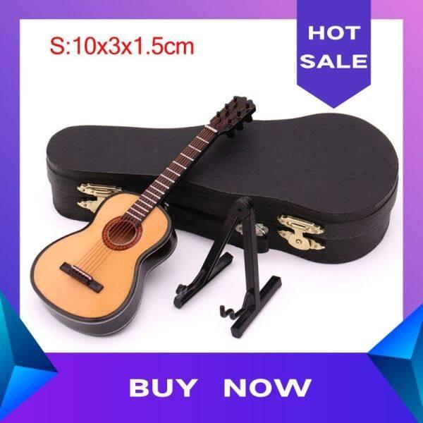 Mô Hình Đàn Guitar Cổ Điển HK Mini Mô Hình Nhạc Cụ Nhỏ Bằng Gỗ Có Giá Đỡ