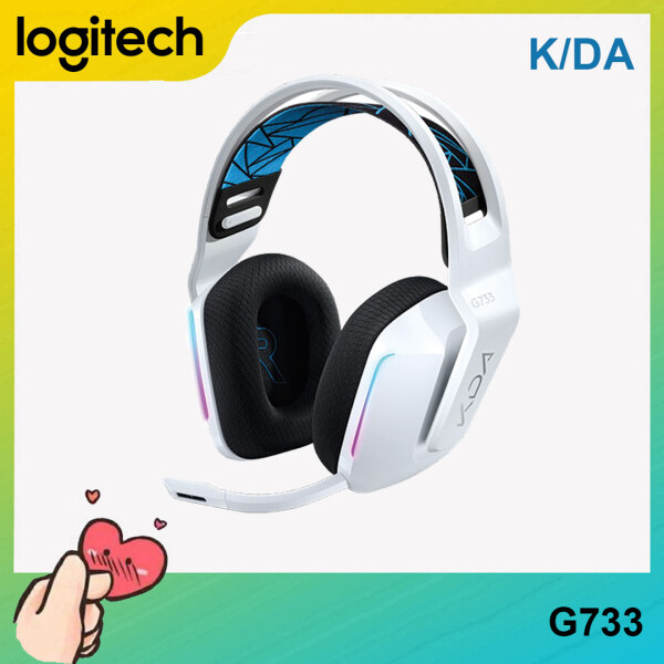 [Ready to Ship] Logitech G733 KDA Limited Edition LIGHTSPEED Wireless RGB Gaming Headset 7.1 Surround Sound With Microphone For PC Laptop Computer