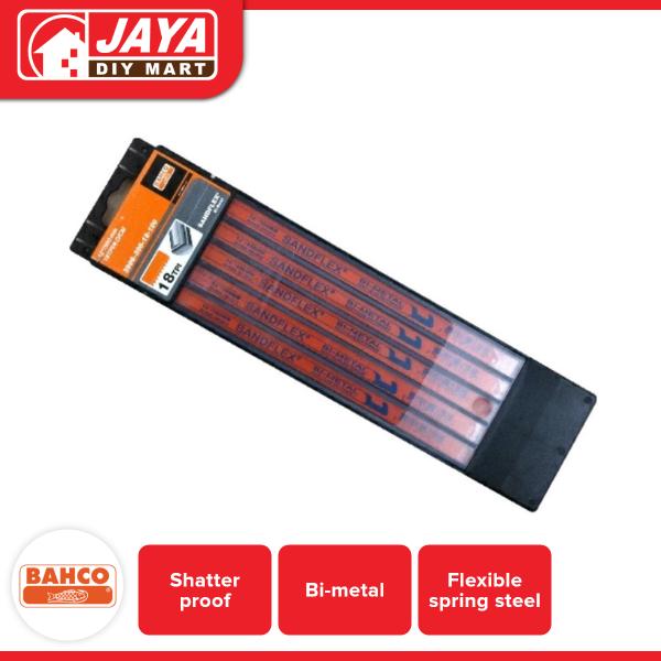 Bahco 3906-300-18-100-Ks 18T Sand-flex Saw Blade 5Pcs Set Jaya DIY Mart
