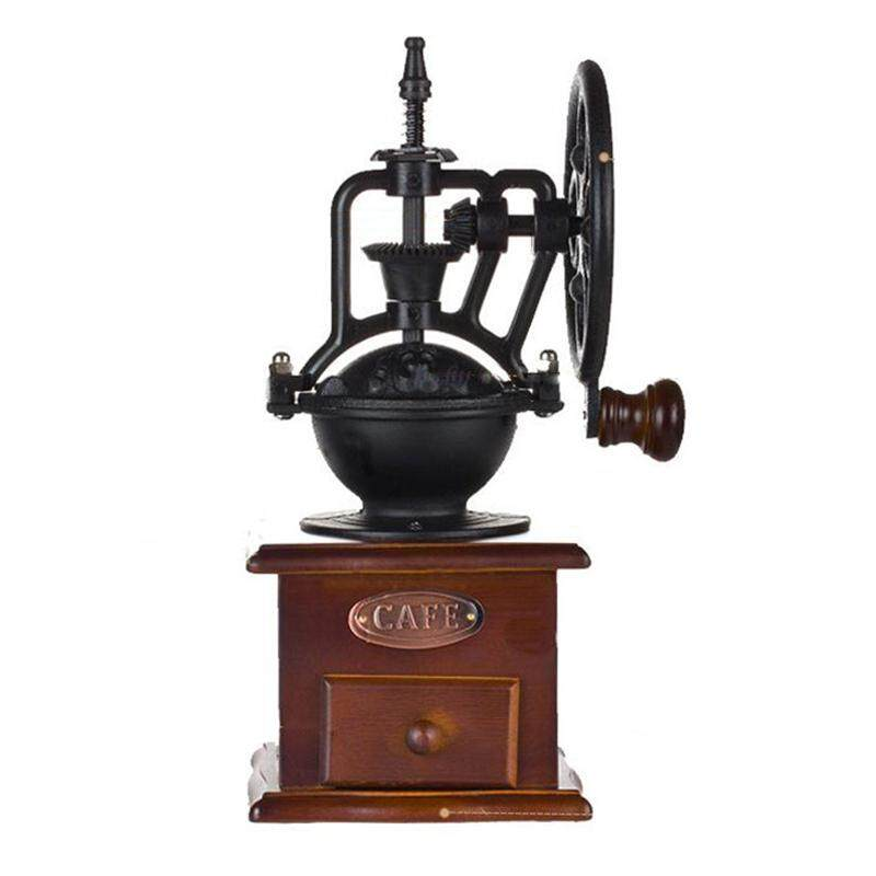 Manual Coffee Grinder Antique Cast Iron Hand Crank Coffee Mill With Grind Settings & Catch Drawer By Lovefreebuy.