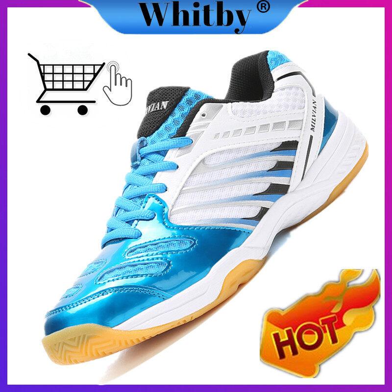 Giày Quần Vợt Thể Thao Nam Nữ Whitby, Giày Cầu Lông Chống Mài Mòn Thoáng Khí Hấp Thụ Sốc Thoải Mái Cho Cặp Đôi