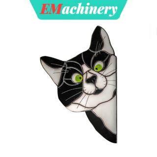 Đề Can Dán Tường EMachinery, Giấy Trang Trí Dễ Thương, Miếng Dán Kính Cửa Sổ Hình Mèo Hoạt Hình Cho Xe Hơi thumbnail