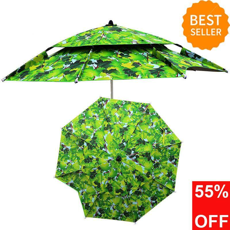 2.0/2.2  Foldable Outdoor Canopy 360º Rotating Sunshade Portable Adjustable Umbrella Tent Anti-UV Sunscreen Camping Picnic Home Garden Park Beach Umbrellas