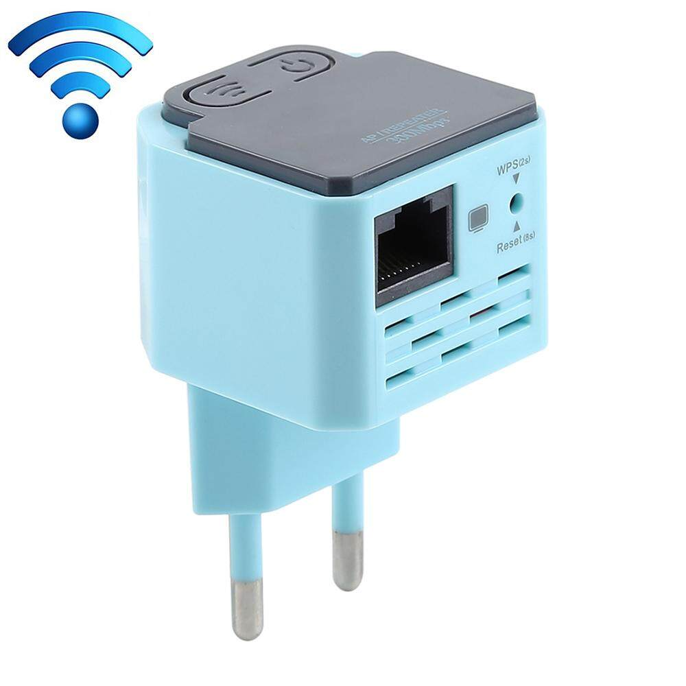 300Mbps WiFi Repeater Wire-less Range Extender Signal Boo-ster Amplifier Wall Mounted EU Plug