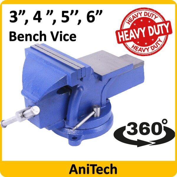 3 / 4/ 5 / 6  ANITECH Swivel Base Bench Vise / Heavy Duty Bench Vise / Swivel Bench Vice / Table Vice