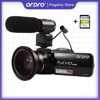 ORDRO Z82 Máy Quay Phim DV Zoom Kỹ Thuật Số 120x Phóng To 10 Lần Máy Quay Video Wifi Chuyên Nghiệp, Máy Ghi Hình Kỹ Thuật Số Xoay 1080 Độ Full HD 3.0 P 30 Khung Hình Giây 24MP 270 Inch thumbnail
