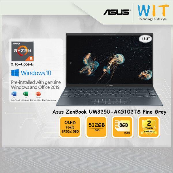 Asus Laptop ZenBook UM325U-AKG102TS Pine Grey/AMD Ryzen 5-5500U 2.10~4.00GHz/8GB OB/512GB SSD/13.3 FHD OLED/AMD Share Malaysia