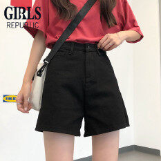 Quần short nữ chất jean kaki dáng rộng thời trang trẻ trung dễ phối đồ Girls Republic