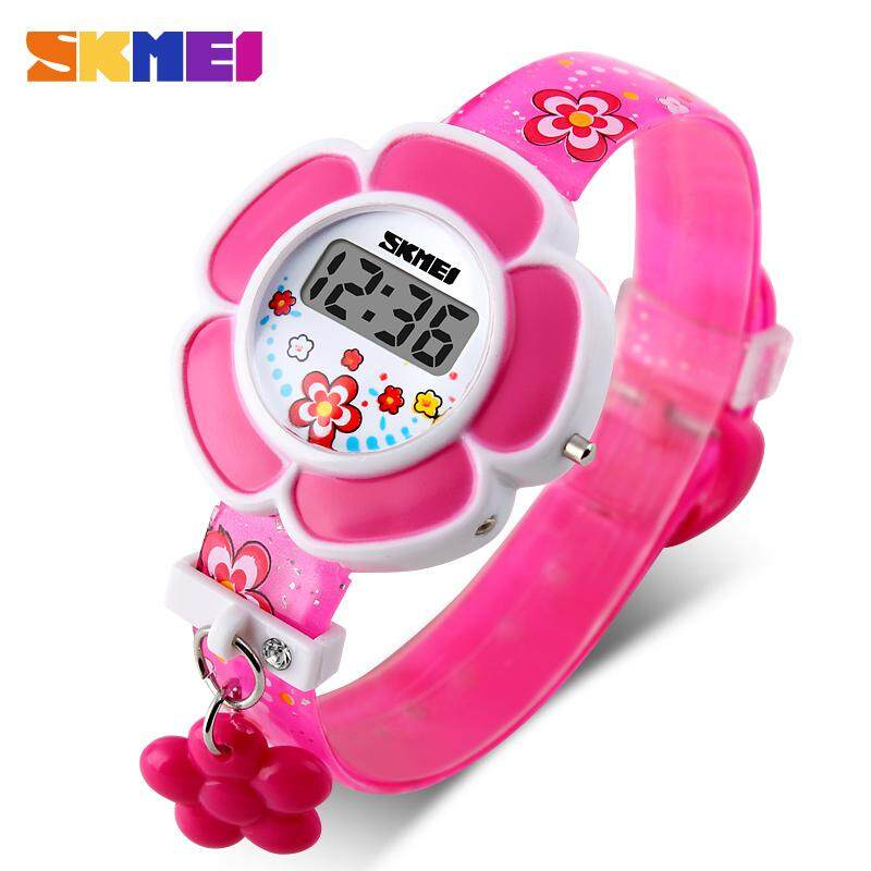 SKMEI Childrens Watches Girl Cartoon Flower LED Electronic Digital Watch Cute Children Watch Fashion Casual Girl Toy Watch Malaysia