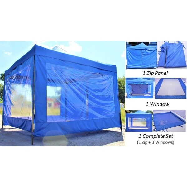 Blue Sidewall Only for 10 x 10 Canopy Tent PVC Canvas Extension Side Wall Kain Kanvas Sisi Dinding Saja Kanopi Khemah